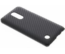 Zwart carbon look hardcase hoesje LG K4 (2017)
