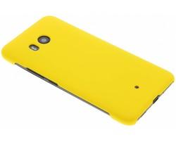 Geel effen hardcase hoesje HTC U11