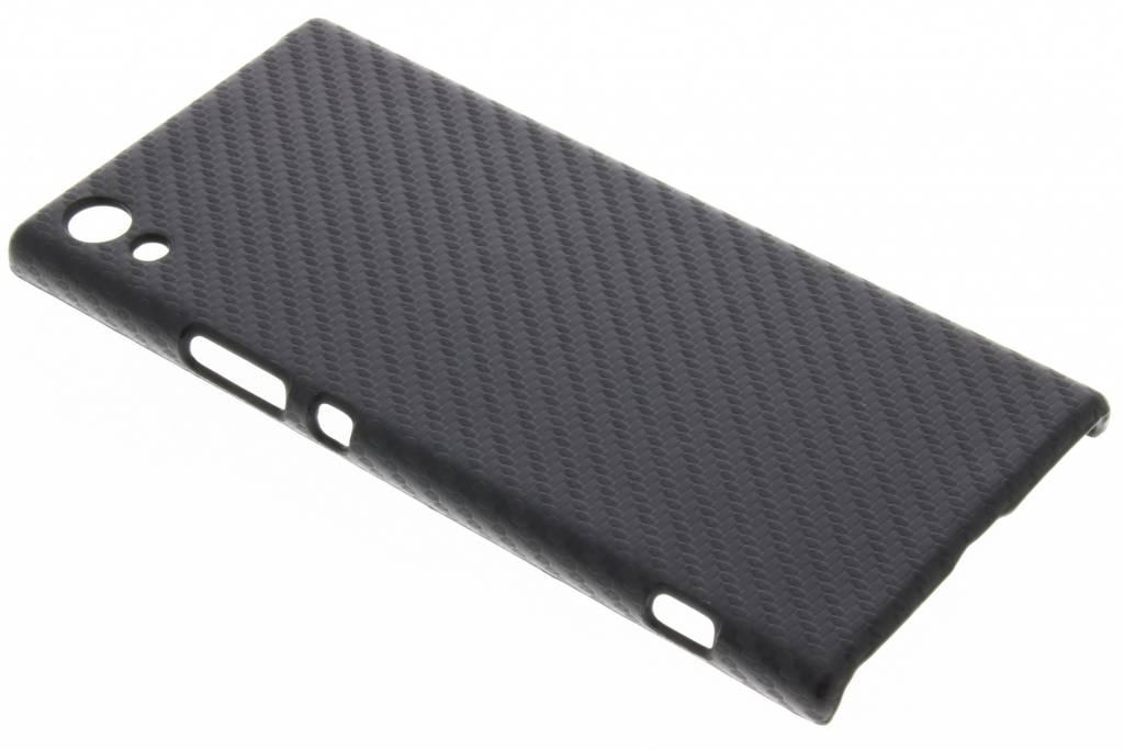 Zwart carbon look hardcase hoesje voor de Sony Xperia XA1 Ultra