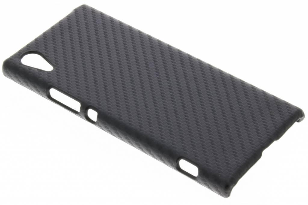 Zwart carbon look hardcase hoesje voor de Sony Xperia XA1