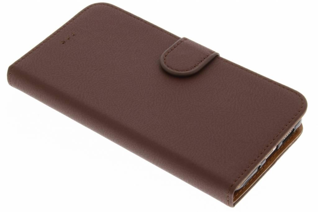 Bruine Wallet TPU Booklet voor de Huawei P10 Lite