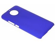 Blauw effen hardcase hoesje Motorola G5S Plus