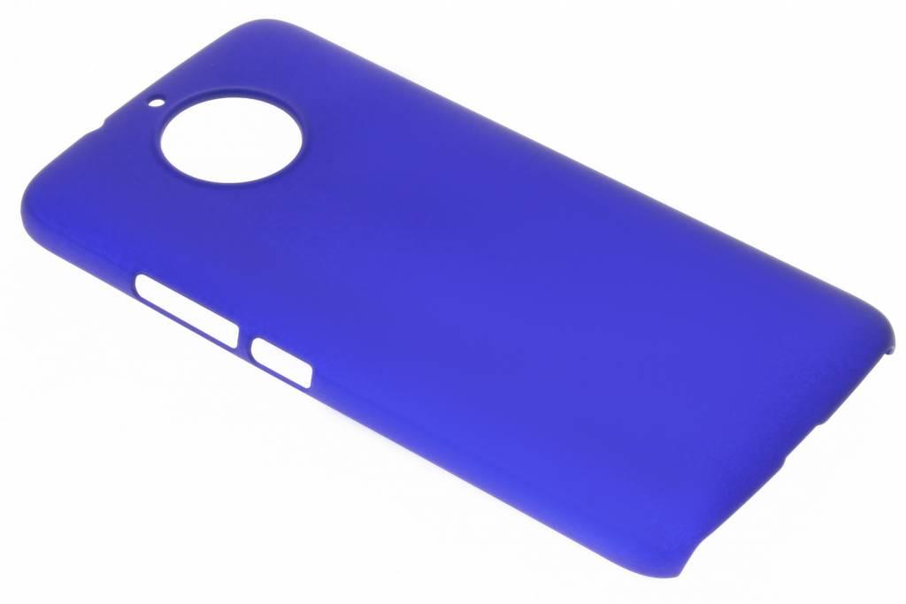 Blauw effen hardcase hoesje voor de Motorola G5S Plus