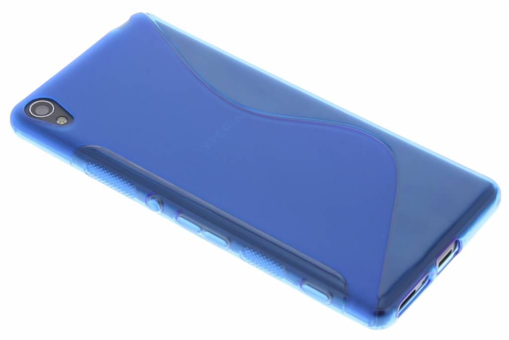 Blauw S-line TPU hoesje voor de Sony Xperia XA
