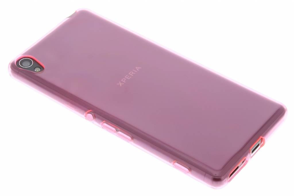 Roze transparant gel case voor de Sony Xperia XA