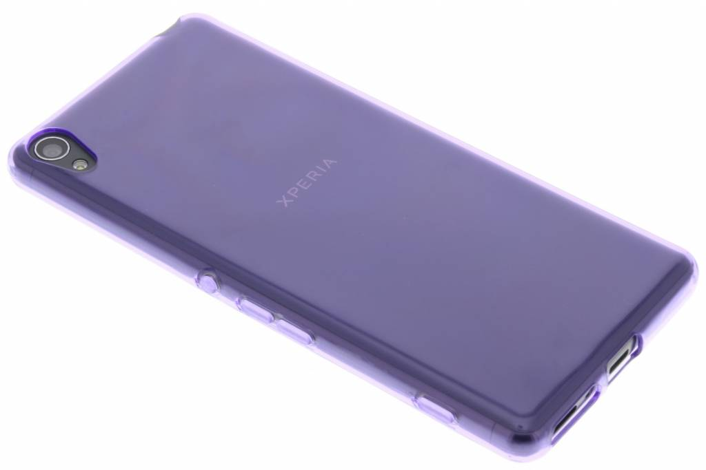 Paarse transparant gel case voor de Sony Xperia XA