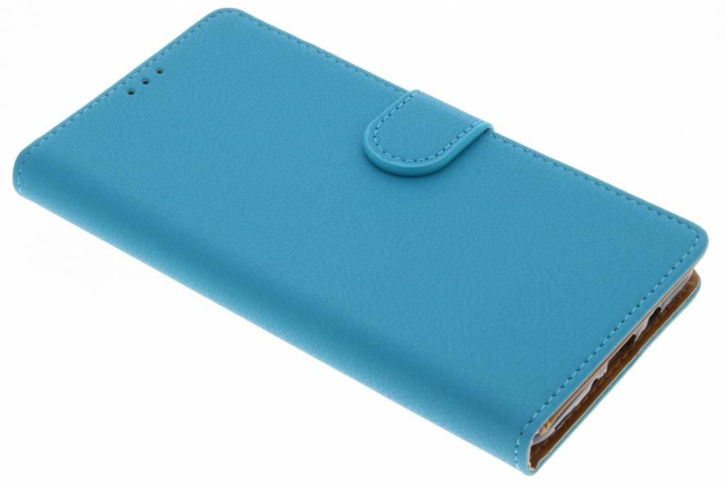Blauwe Wallet TPU Booklet voor de Samsung Galaxy J7 (2016)