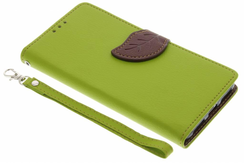 Groene blad design TPU booktype hoes voor de Huawei Y5 2 / Y6 2 Compact