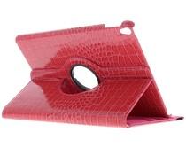 Fuchsia 360° draaibare krokodil tablethoes iPad Pro 10.5
