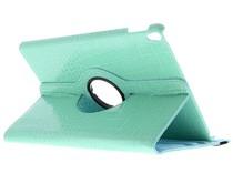 Turquoise 360° draaibare krokodil tablethoes iPad Pro 10.5