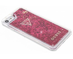 Guess Rood Liquid Glitter Hardcase iPhone 8 / 7 / 6s / 6