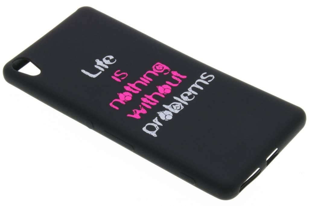 Life problems glow in the dark TPU case voor de Sony Xperia XA