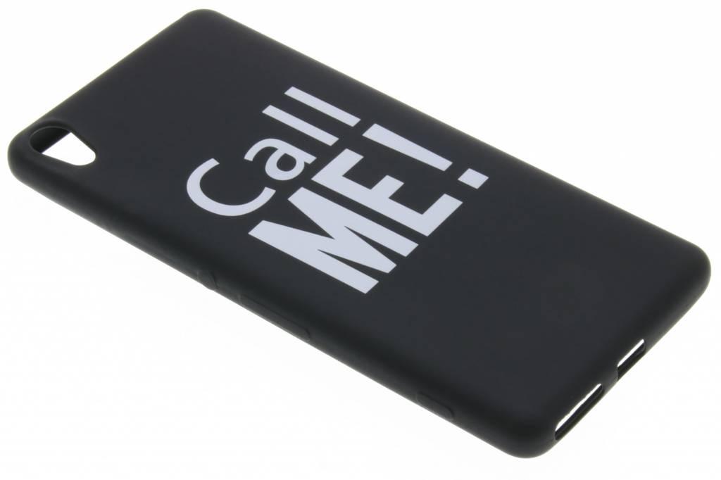 Call me! glow in the dark TPU case voor de Sony Xperia XA