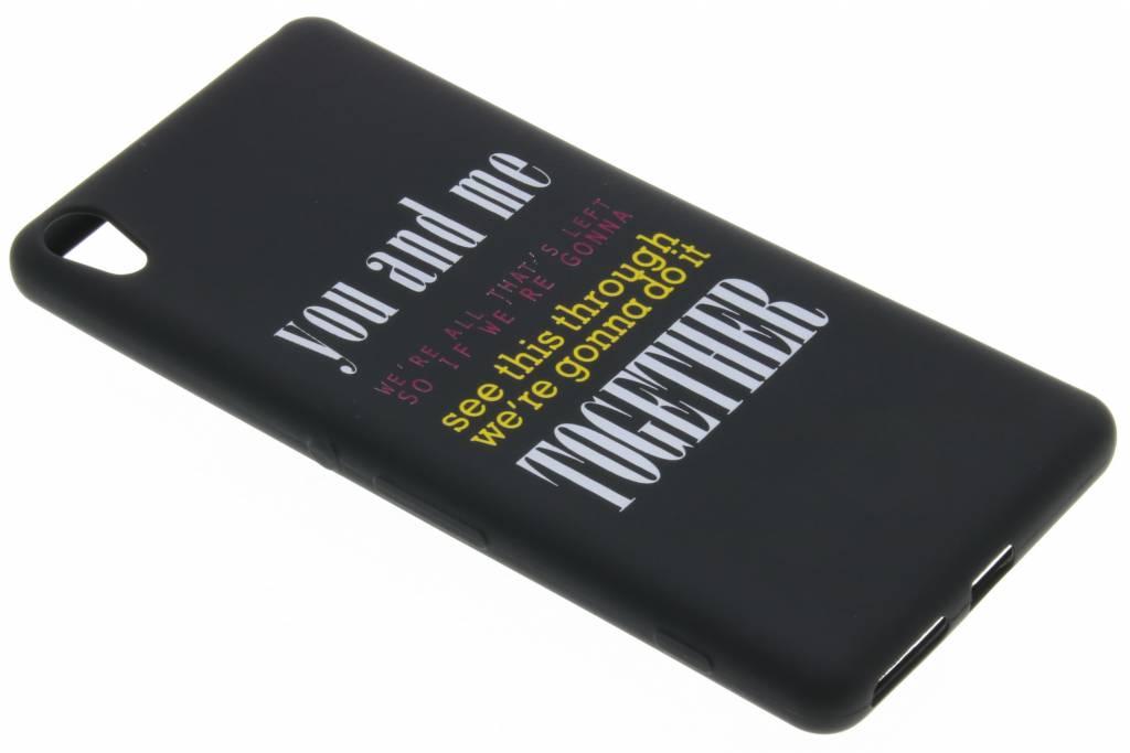 You and me glow in the dark TPU case voor de Sony Xperia XA