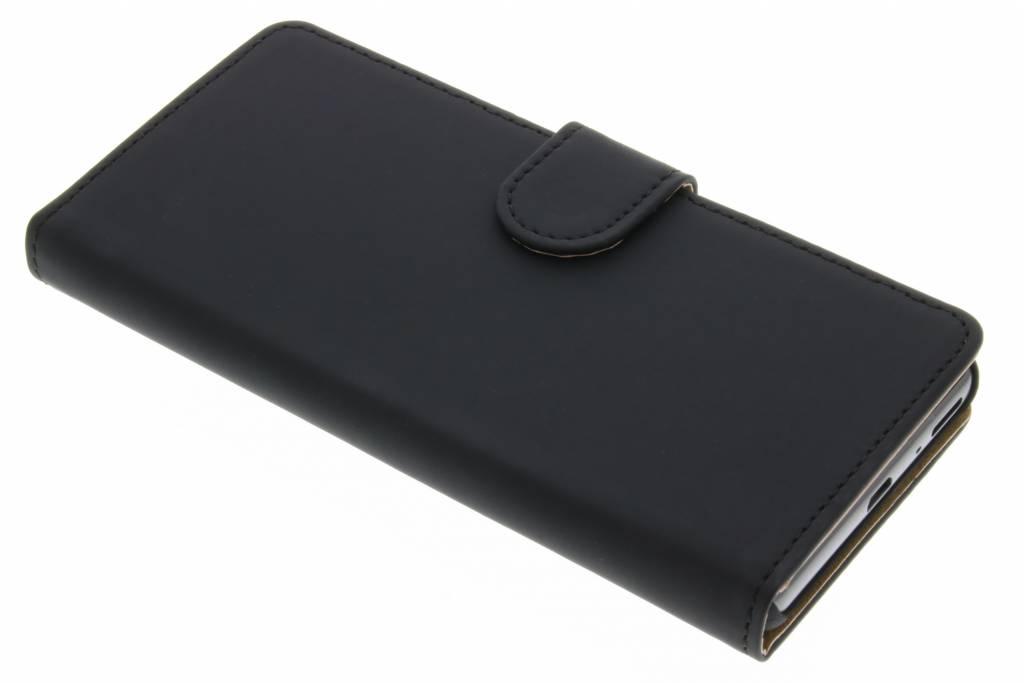 Zwarte effen booktype hoes voor de Sony Xperia XA