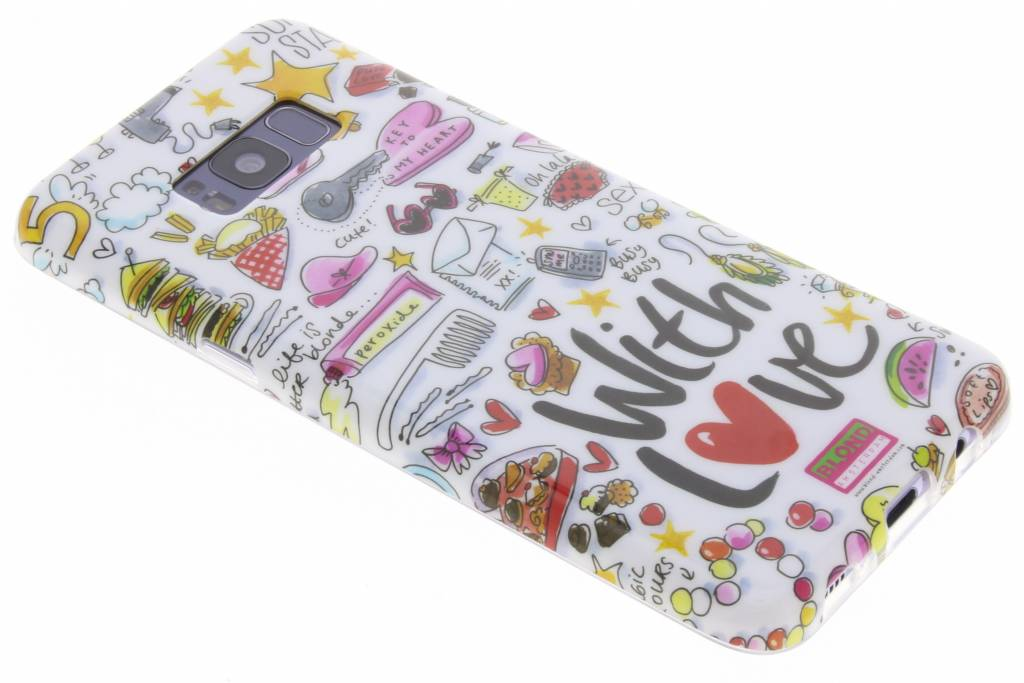 Blond Amsterdam With love softcase voor de Samsung Galaxy S8 Plus