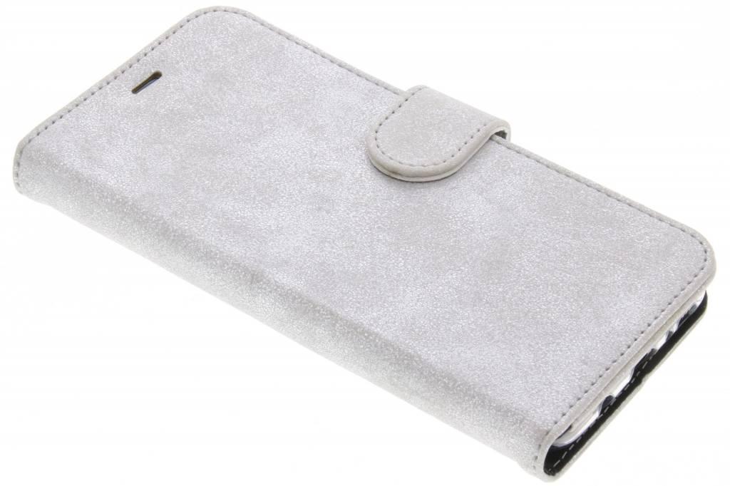 Accezz Zilveren Glitter Wallet TPU Booklet voor de Samsung Galaxy S8