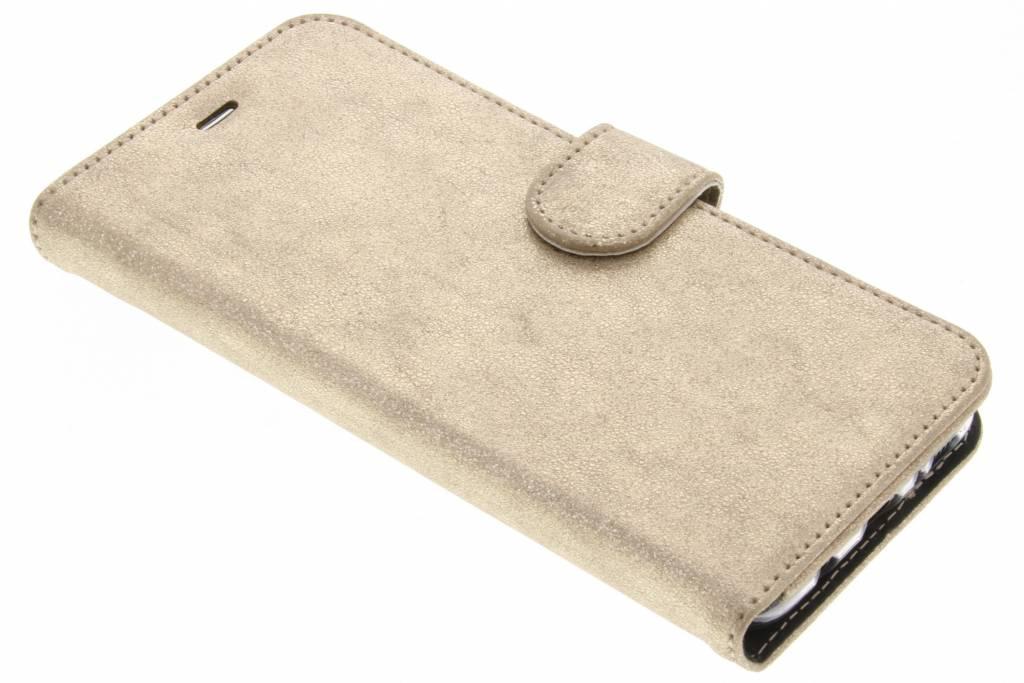 Accezz Gouden Glitter Wallet TPU Booklet voor de Samsung Galaxy S8