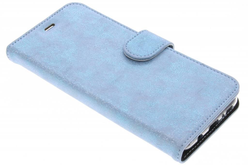 Accezz Blauwe Glitter Wallet TPU Booklet voor de Samsung Galaxy S8