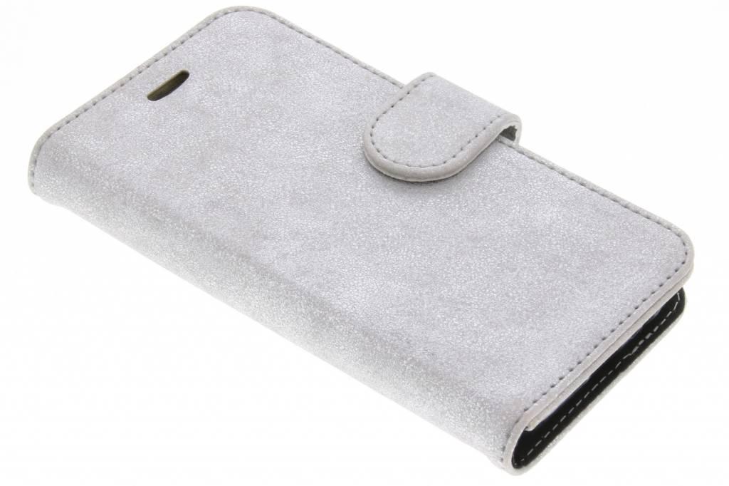 Accezz Zilveren Glitter Wallet TPU Booklet voor de Samsung Galaxy A3 (2017)