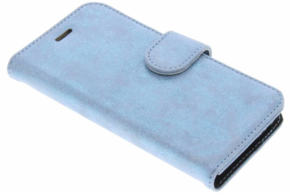 Accezz Blauwe Glitter Wallet TPU Booklet voor de Samsung Galaxy A3 (2017)