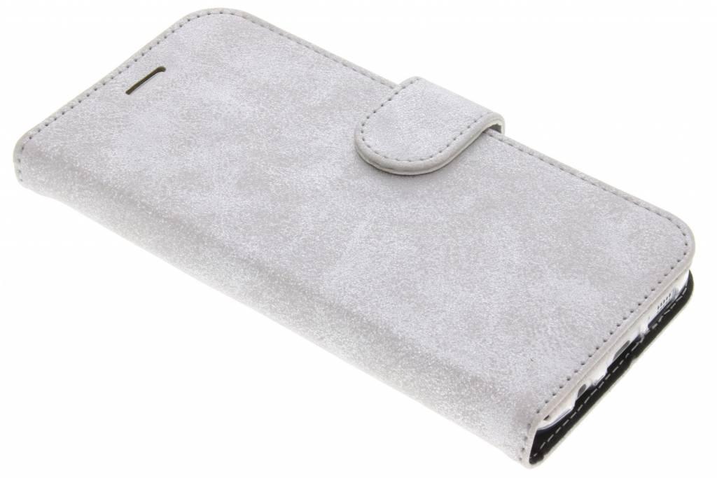 Accezz Zilveren Glitter Wallet TPU Booklet voor de Samsung Galaxy S7 Edge