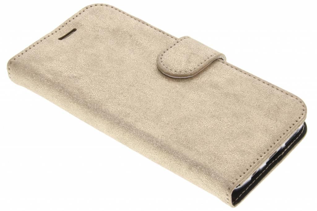 Accezz Gouden Glitter Wallet TPU Booklet voor de Samsung Galaxy S7 Edge