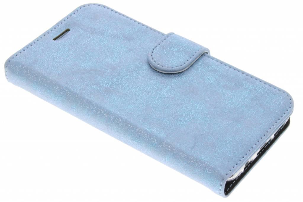 Accezz Blauwe Glitter Wallet TPU Booklet voor de Samsung Galaxy S7 Edge