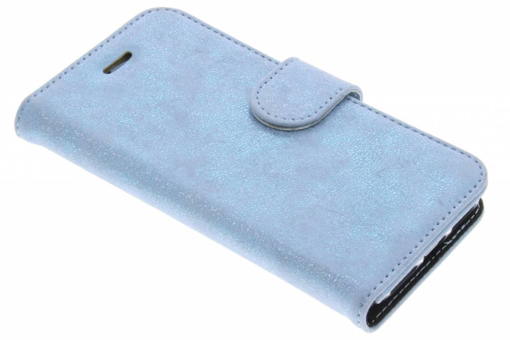 Accezz Blauwe Glitter Wallet TPU Booklet voor de iPhone 8 / 7