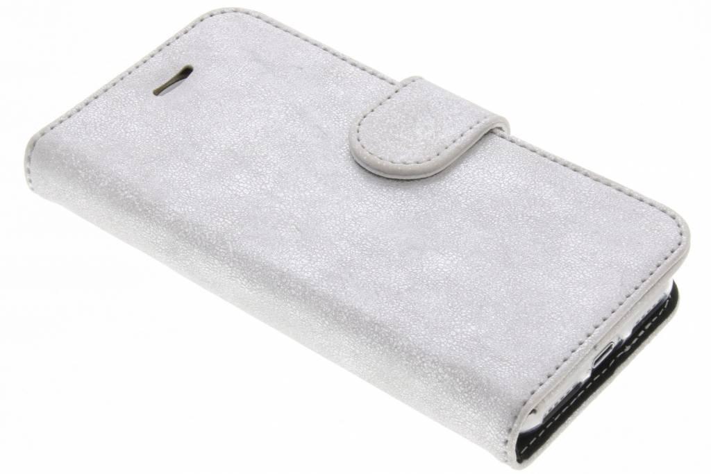 Accezz Zilveren Glitter Wallet TPU Booklet voor de iPhone 8 / 7