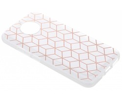 Cubes design TPU hoesje Motorola Moto X4