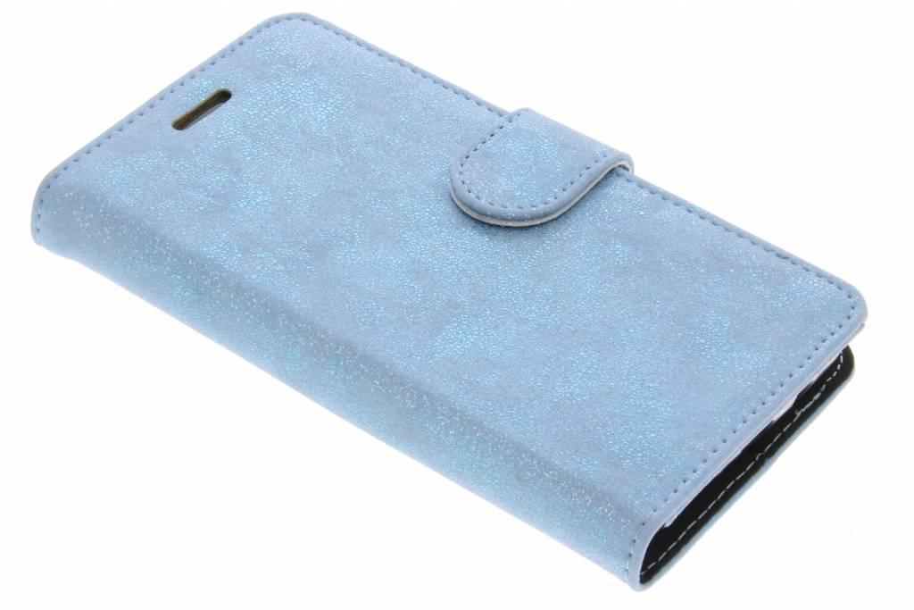 Accezz Blauwe Glitter Wallet TPU Booklet voor de Samsung Galaxy J5 (2016)