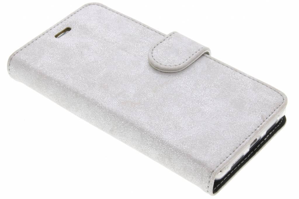 Accezz Zilveren Glitter Wallet TPU Booklet voor de Huawei P9 Lite