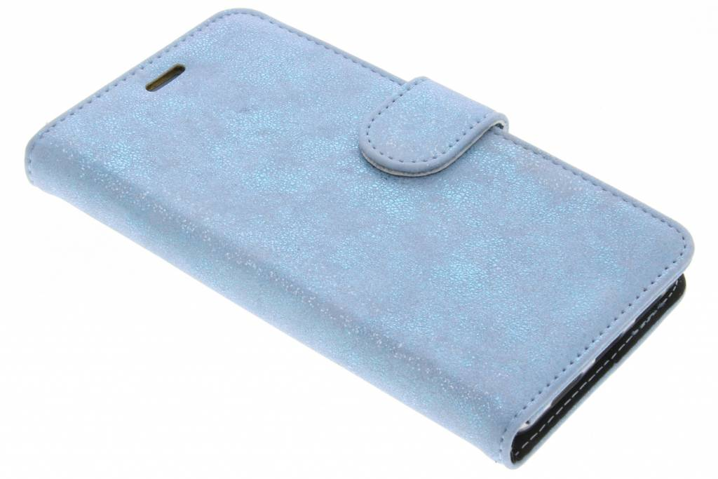 Accezz Blauwe Glitter Wallet TPU Booklet voor de Huawei P9 Lite