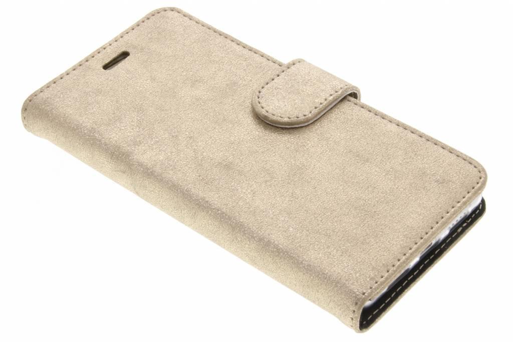 Accezz Gouden Glitter Wallet TPU Booklet voor de Huawei P9 Lite