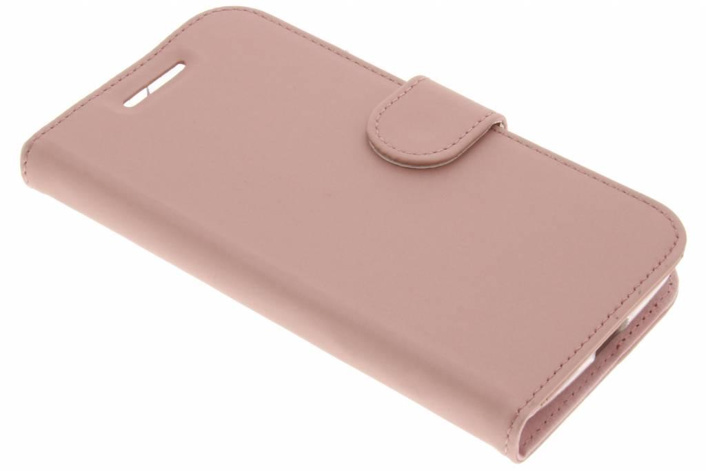 Accezz Roze Wallet TPU Booklet voor de Motorola Moto E3