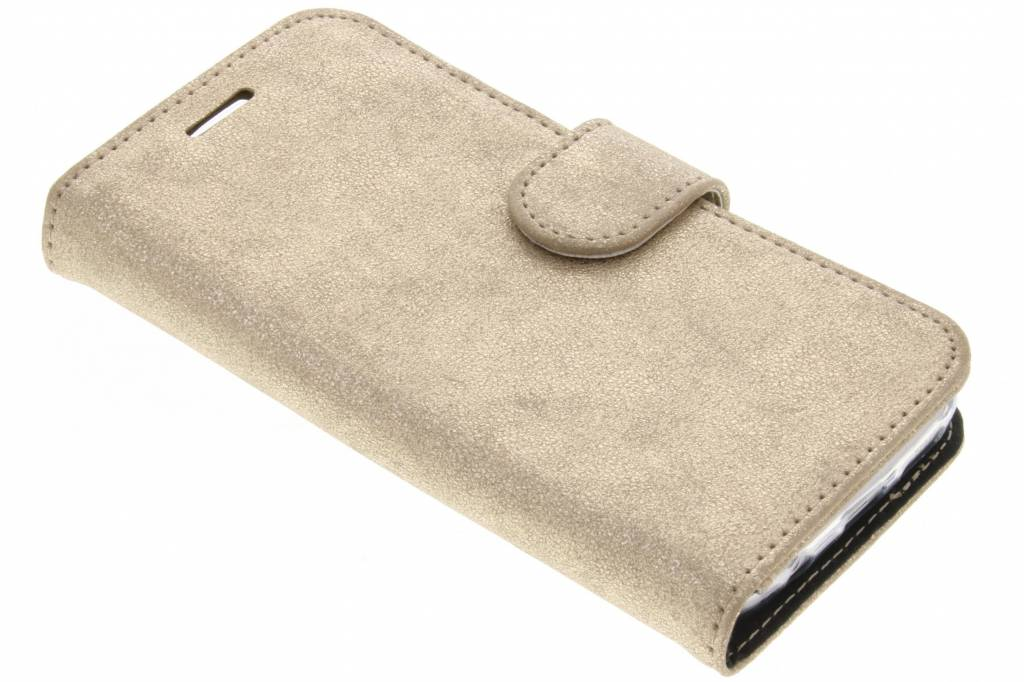 Accezz Gouden Glitter Wallet TPU Booklet voor de Samsung Galaxy S7