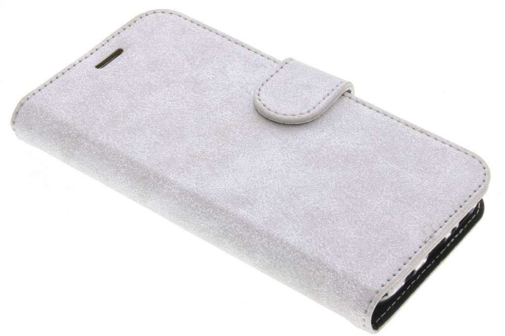 Accezz Zilveren Glitter Wallet TPU Booklet voor de Samsung Galaxy S8 Plus