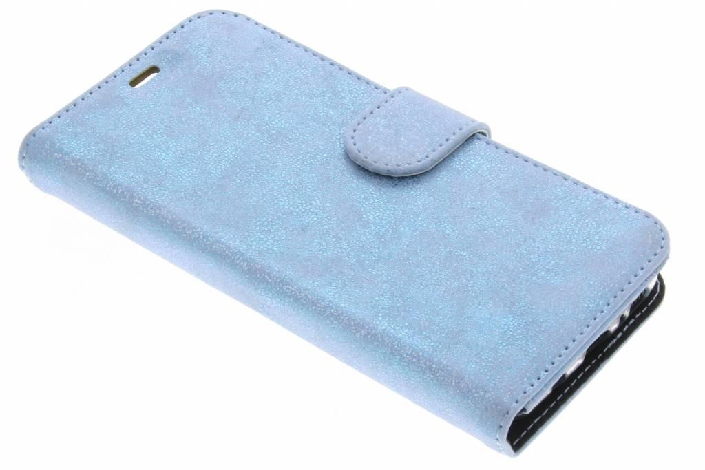 Accezz Blauwe Glitter Wallet TPU Booklet voor de Samsung Galaxy S8 Plus