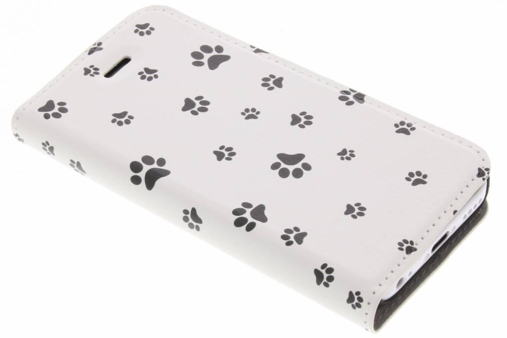 Dierenpootjes Design Booklet voor de iPhone 5c