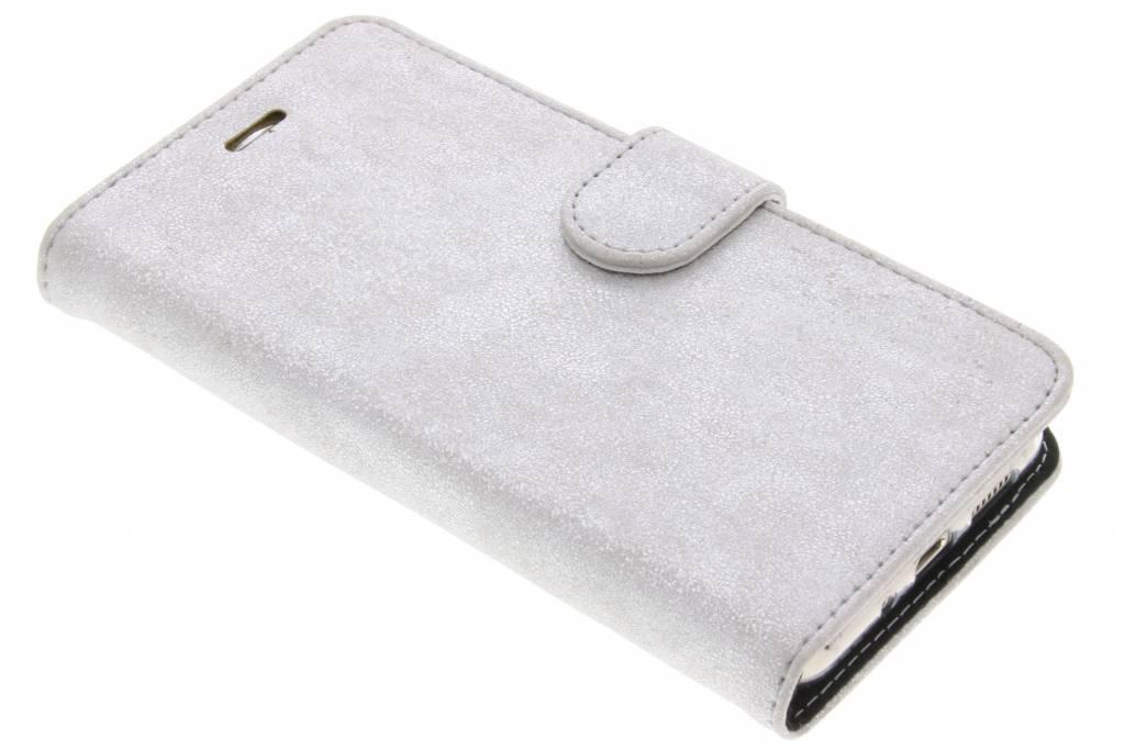 Accezz Zilveren Glitter Wallet TPU Booklet voor de Huawei P10 Lite