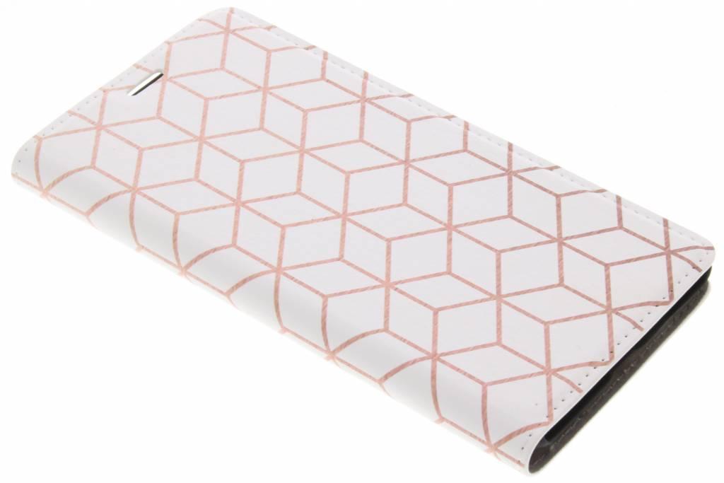 Cubes Rose Gold Design Booklet voor de Nokia 5