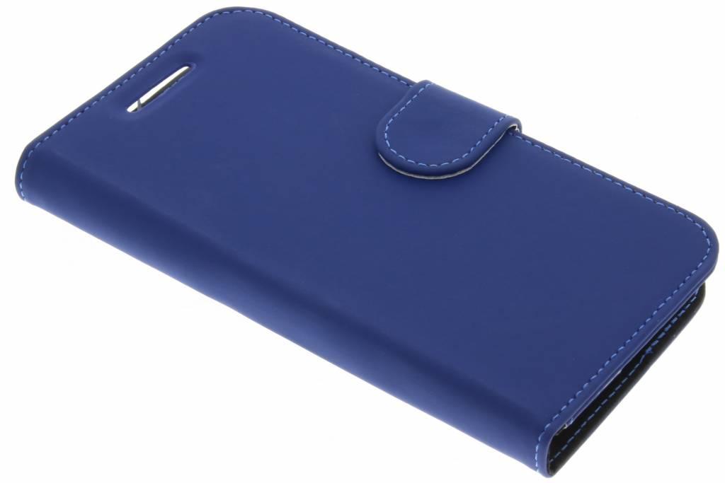Accezz Blauwe Wallet TPU Booklet voor de Motorola Moto E3