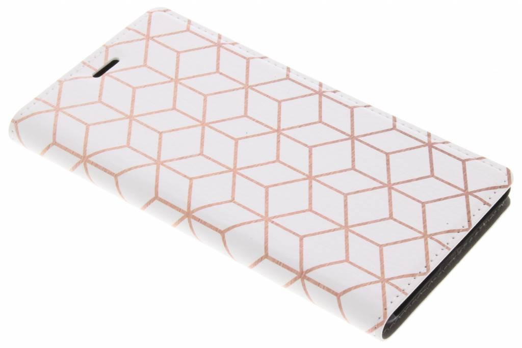 Cubes Rose Gold Design Booklet voor de Nokia 3