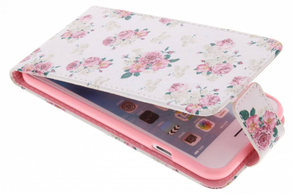 Roosjes design TPU flipcase voor de iPhone 6 / 6s