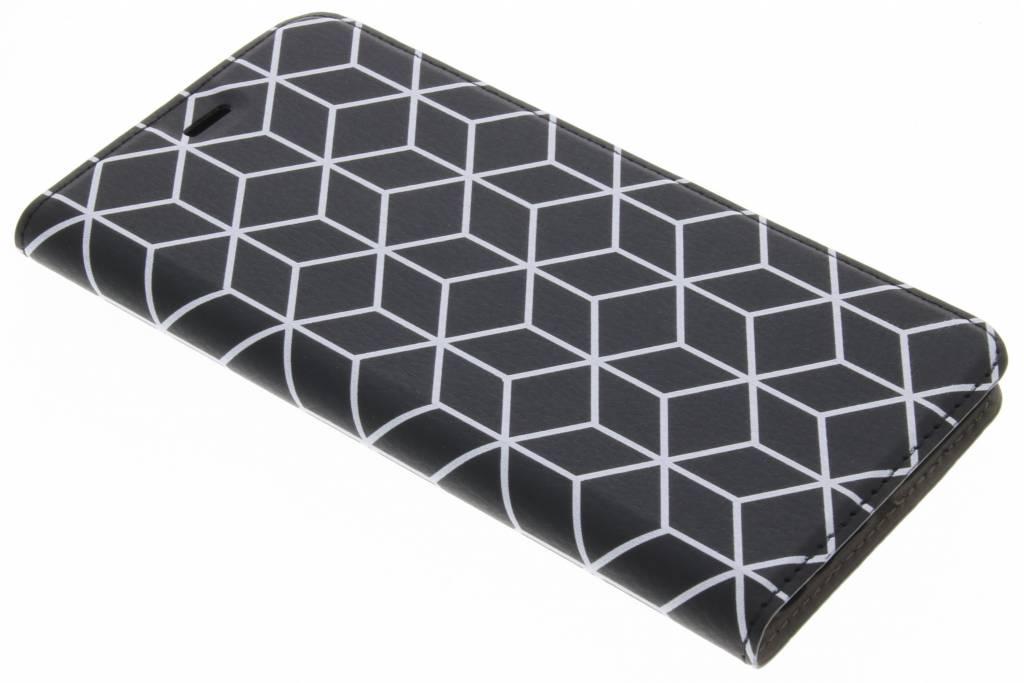 Cubes Black Design Booklet voor de Huawei P10 Plus