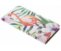 Flamingo Design Booklet Huawei P10 Plus