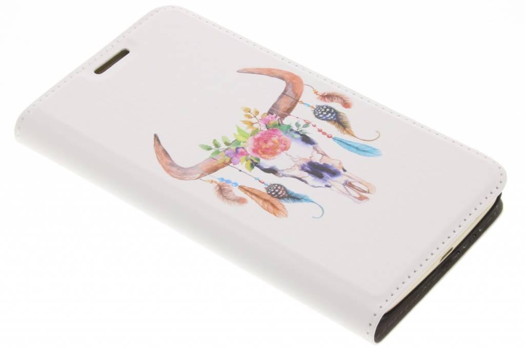 Bull Skull Design Booklet voor de Motorola Moto G5 Plus