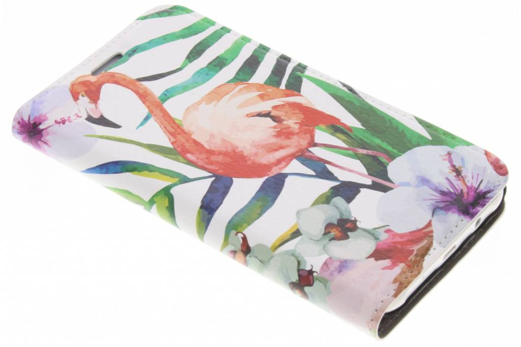 Flamingo Design Booklet voor de Samsung Galaxy J5