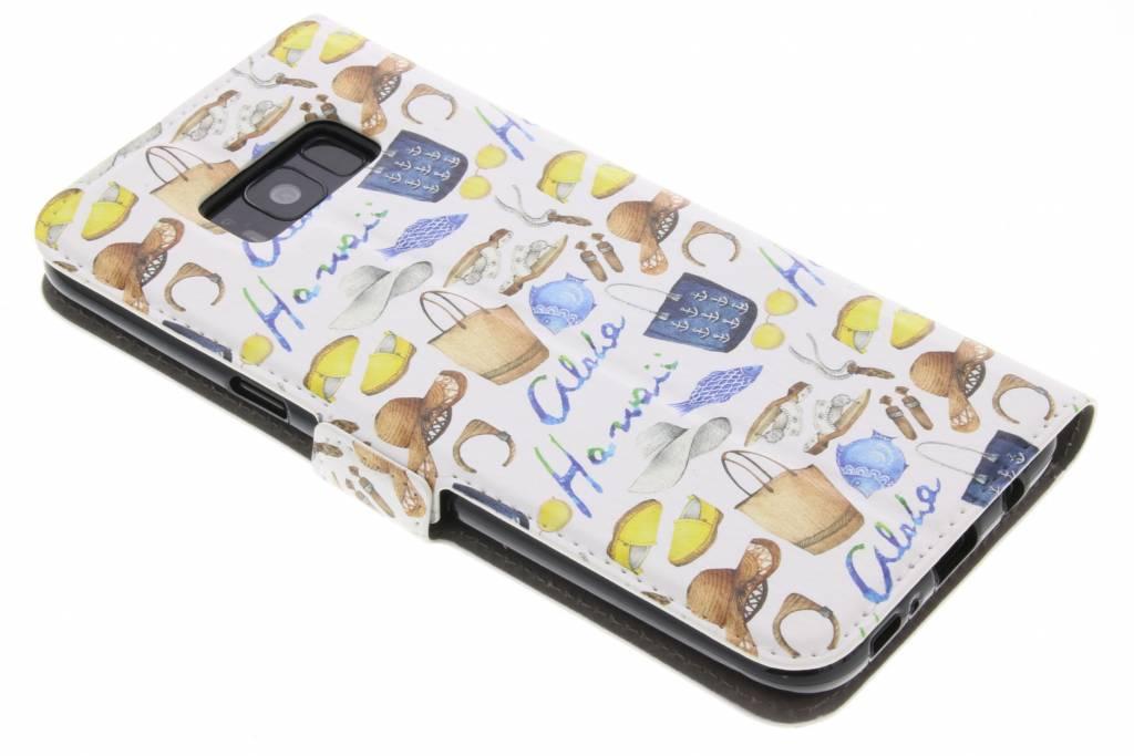 Conception Fashionista Livret Tpu Pour Samsung Galaxy S8, Plus